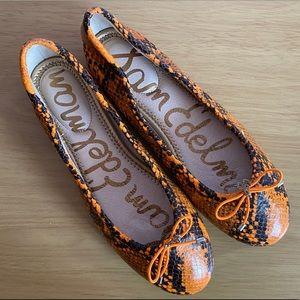 Sam Edelman Felicia Leather Snakeskin Flat